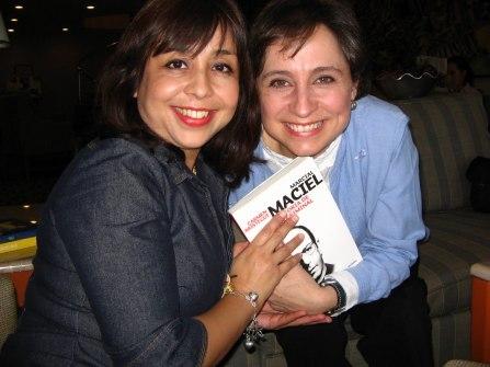 Con Carmen Aristegui