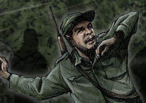Ilustración de Che, una vida revolucionaria, de José Hernández y Jon Lee Anderson