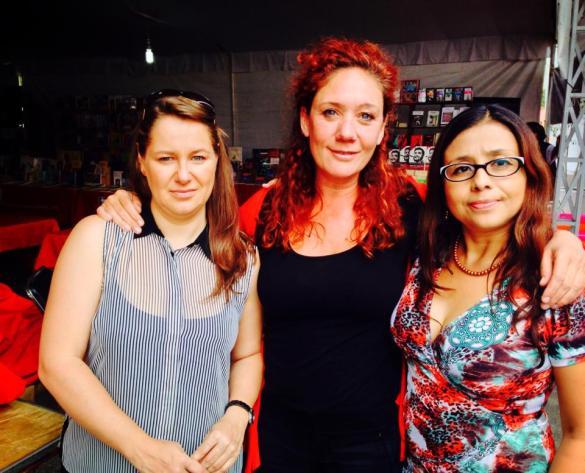 Con Cristina y Marina