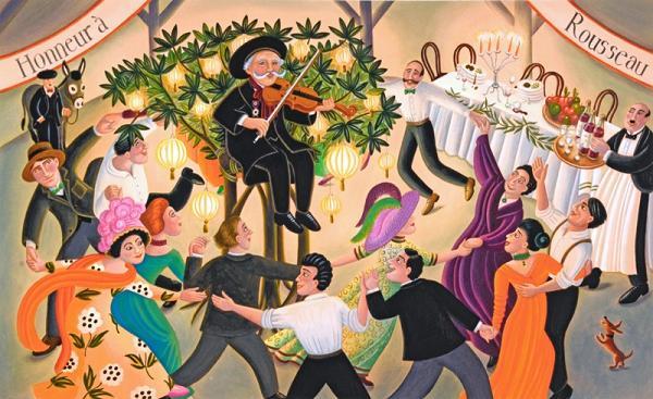 banquete-en-honor-del-pintor-henri-rou-sseau-ilustracion-de-amanda-hall