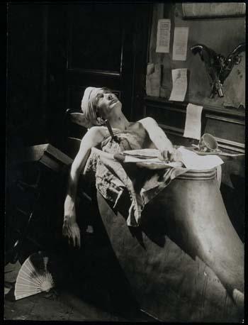 Artaud como Marat en Napoleon, p elícula de Abel Gance de 1927