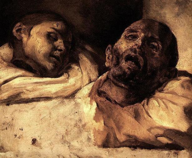 Géricault. Estudio de dos cabezas cortadas.