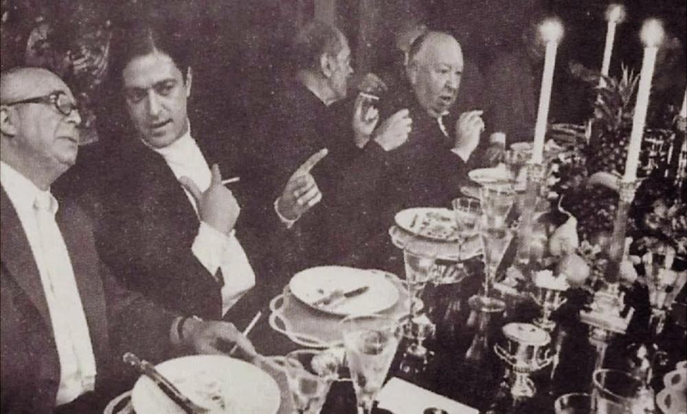Billy Wilder, Rafael Bunuel, Lui s Buñuel y Alfred Hitchcock.