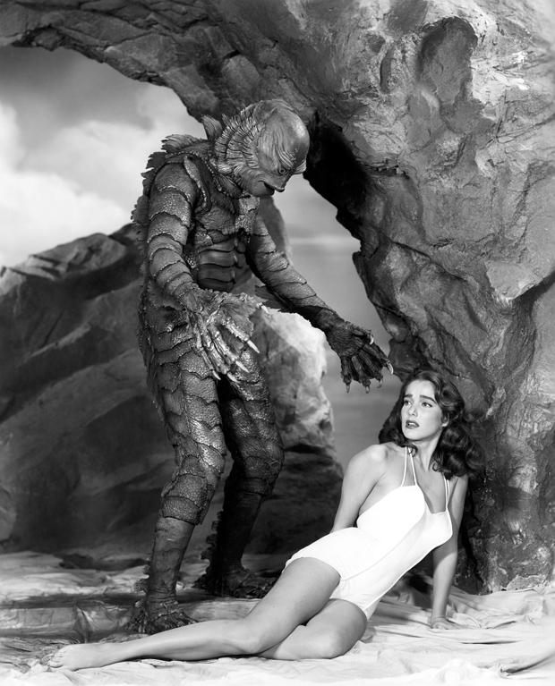 El monstruo y Julie Adams