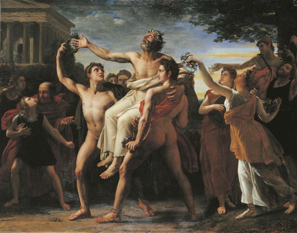 Vinchon-Diagoras cargado en triunfo