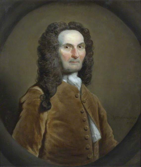 Highmore, Joseph, 1692-1780; Abraham de Moivre (1667-1754)