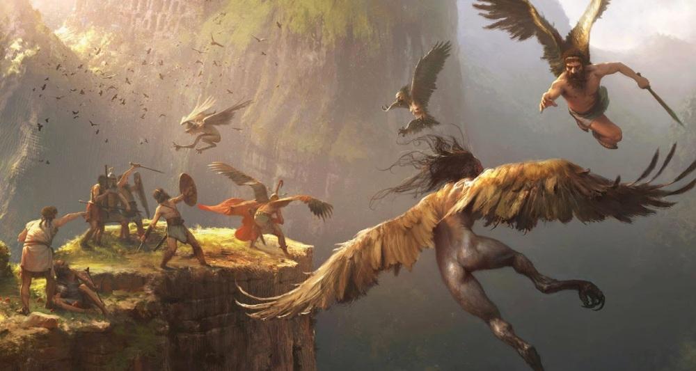 La captura de las arpias, Jason y los argonautas Cabrera Peña