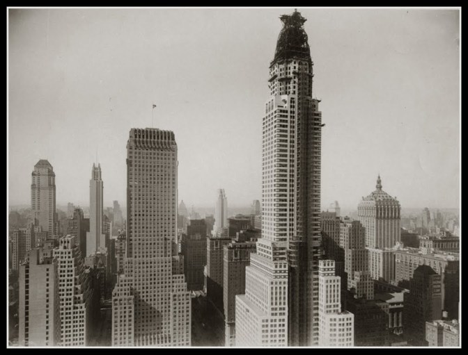 Chrysler Bldg construction 1929